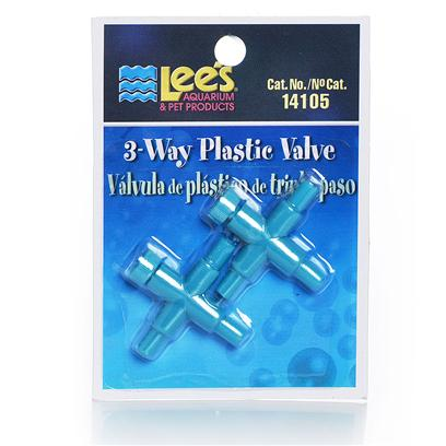 Lee's Presents Lees 3 Way and 2 Plastic Valve 2-Way (12/Cd). Use to Split One Airline Outlet into Multiple Outlet with Valve to Control Air Flow from Pump. Three-Way and Two Way Valves are Manufactured of High-Quality, Non-Corrosive Material. Use to Control Air Flow from the Air Pump. [28255]