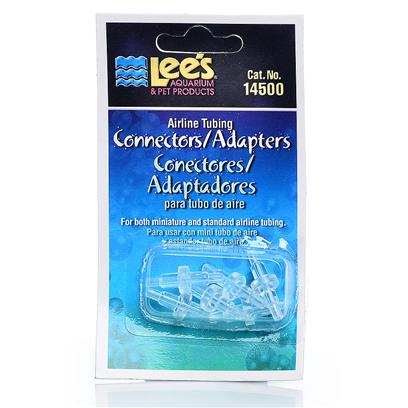 Lee's Presents Lees Airline Connectors 6pcs Carded Connectors-6 Per Card. Use to Connect Two Pieces of Standard Sized Airline Tubing Together or Standard Airline to Mini Airline. Packaging 6/Blister Card [28256]