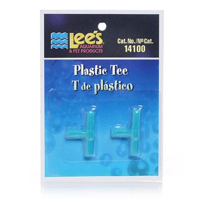 Lee's Presents Lees Plastic Tee 12 Pack (Carded). Plastic Tee's are Manufactured of High-Quality, Non-Corrosive Material. Use to Control Air Flow from the Air Pump. [28260]