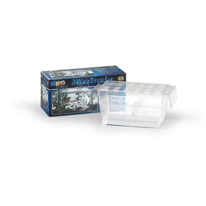 Lee's Presents Lees Guppy Breeder Two-Way. Two-Way Guppy Breeder -- The &quot;V&quot; Partition, which is Included, is Designed to Help Safely Separate New Fry from the Mother. The Two-Way Guppy Breeder was Engineered with Wide-Slotted Side Vents to Promote Water Circulation that Furnishes Oxygen and Fresh Water to the Fry. It also Features Side Air Tanks that Allow it to Float Freely in the Aquarium. [28400]