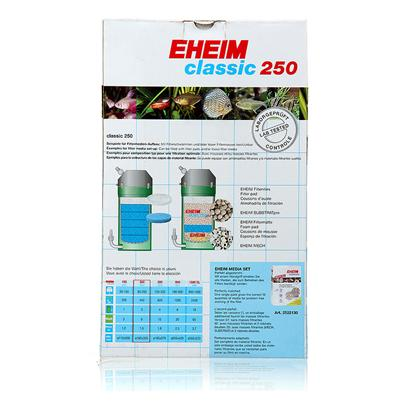 Eheim Presents Eheim Classic Canister Filter 2217-37 Model. Classic Series Canister Filters have the Longest Most Reliable Track Record in the Trade. A Pump/Motor Unit that Seems to Run Forever with a Minimum of Service. Proven Technology, Balanced Performance, and High Efficiency Mark Classic Series Filters as the Bellweather in Aquarium Filtration. One Chamber Design Allows for the Greatest Flex in Setting Up for Mechanical, Biological, Chemical and Adsorptive Filtration. Flow Rates have been Precisely Calculated to Provide the Exact Balance Needed Between Mechanical and Biological Long-Term Filtration, Water Circulation and Oxygen Enrichment, Resulting in Optimum Conditions for Successful Aquarium Keeping, with 3-6 Month Maintenance Intervals. Also Ideal for Specific Purpose Filtration Such as Chemical /Adsorptive (Carbon). Eheim External Filter 2262 (Special Edition 2260 Canister Filter) without Filter Media Powered by New High Output 1262 Pump Includes Two Quick-Release Double Tap Valves Filter Volume 4.8 Gal Pump Output 900 Gph Weight 20 Lbs Flexible Hose Diameter 1&quot; Inlet and 5/8&quot; Outlet for Aquariums Up to 500 Gallons [28420]