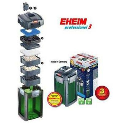 "Eheim Presents Eheim Pro 3 Filters Filter 2075. The High-Tech External Canister Filters Generation with Priming Support and Full of Innovative Technology for Aquarium Sizes Up to 600 L. Eheim Professionel Ii is Continuing the Philosophy of the Professionel Series Consistently and Offers Greater Efficiency with Even More Convenience. The Large Priming Cylinder on the Pump Head is not only a Special Design Element. The Filter System is Filled with this Convenient Priming Support at ""the Push of a Button"" and Immediately the System Starts Working. Complicated Priming Principles for which Every Aquarium Owner Developed his Own More or Less Inconvenient and Often also Wet Technology are Now a Thing of the Past. The Supplied Hose Adapter is Equipped with 2 Shut-off Valves. When the Safety Adapter is Mounted, the Flow Rate is Adjusted with the Combi-Lever. If the Hose Connection is Disconnected, the Combi-Lever is also Used but in Conjunction with the Red Safety Catch. The Lever is Easier to Use and Faulty Operation is Virtually Impossible. In the Hose Adapter Th Flow Rate Indicator Displays the Flow Rate. This Way you can see the Filter Efficiency at a Glance. Eheim High Performance Ceramics, I.E. High Quality Ceramic Components, Provide for Very Quiet Continuous Operation Characteristics. The High Quality Filter Canister is Equipped with Practical Filter Baskets. Filter Baskets are Easy to Take out and to Fill. Specifications Model G90 Aquariums Up to 47-92 Gallons Pump Output 276 Gallons/Hour Delivery Head Approx 5.90 Hmax Ft Power Consumption 16 Watts Dimensions 1.30 X 0.78 X 0.80 Ft only 16 Watts Power Consumption* [28435]"