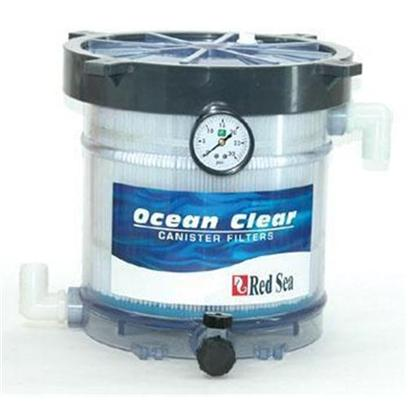 Red Sea Fish Pharm Presents Red Sea Ocean Clear 340 Filter Model Canister. Provides the Highest Usable Wetted Surface Area for Nitrifying Bacteria to Eliminate Toxic Ammonia. Consists of a Durable 40 Sq. Ft. (3.6 M ) Filter Cartridge with a Core of Polystrand Bio-Media. For Freshwater and Marine Tanks Up to 150 Gallons. Includes 40 Sq. Ft. Pleated Micron Cartridge and 50 Sq. Ft. Polystrand Bio-Core for Biological Filtration in the Center Core Requires Flow Rates Between 800-1600gph. [28459]