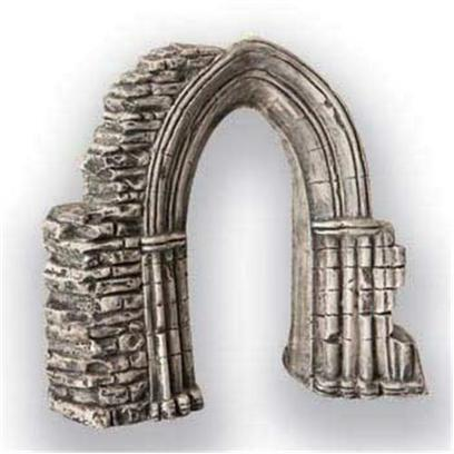 Underwater Galleries Presents Underwater Arch Ruin Galleries. Ceramic Ancient Stone Archway with Swim through Opening; Great for Discus &amp; Angelfish Dimensions 7' X 3' X 6.5' [28464]