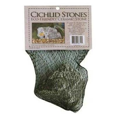 Underwater Galleries Presents Underwater Cichlid Stone 3 Pack. Small (Square) Ceramic Hollow Stone Cave - 1 Opening, Great for Breeding &amp; Small Fry Dimensions 3&quot; X 2.75&quot; X 2&quot; [28471]