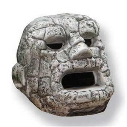 "Underwater Galleries Presents Underwater Javaman Head Galleries. Ceramic Ancient Stone Artifact; Eyes & Mouth Create 3 Openings Dimensions 5.5"" X 6"" X 5.25"" [28478]"
