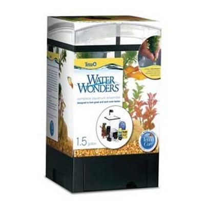 Tetra Usa Presents Tetra 1.5gl Aquarium Kit Black 1.5gallon Kit-Black. Waterwonders 1.5gal Aquarium Kits are Fun, Easy and Fit Anywhere. Whisper Internal Filtration with Easy-to Replace Bio Bags Keeps Water Crystal Clear. Innovative Built-in Plant Grid and Plants Make it Easy and Quick to Decorate. Low Voltage Led Lighting Provides a Bright Aquarium and Enhances Safety. Integrated Drawer in Base Provide Storage for Food and Other Supplies. Includes Tetracare with Free Online and Toll-Free Assistance for Setting Up and Successfully Maintaining the Aquarium. Kit Includes Whisper 3i Internal Filter, 2 Bio-Bags, Led Low Voltage Light, Air Pump and Airline Tubing, 2 Decorative Plants and Innovative Built-in Plant Grid, Aquasafe Water Conditioner and Tetramin Tropical Flake Food [28516]