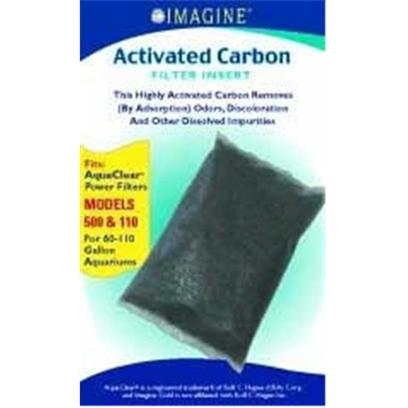 Imagine Gold Presents Imagine Gold (Img) Ac 110 Active Carbon Fits Models 500. This Highly Activated Carbon Removes (by Adsorption) Odors, Discoloration and Other Dissolved Impurities Fits Aquaclear(R) Power Filter Models 500 &amp; 110, for 60-110 Gallon Aquariums [28558]