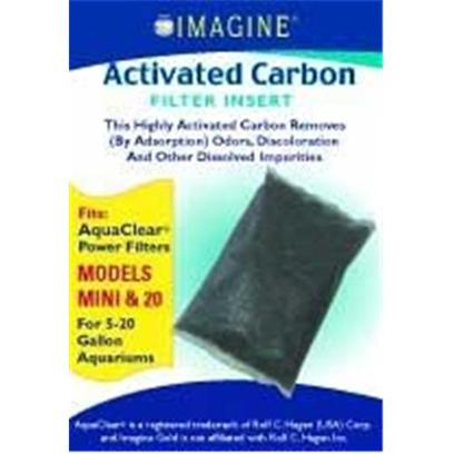 Imagine Gold Presents Imagine Gold Aquaclear 20 Active Carbon Mini Fits Models. This Highly Activated Carbon Removes (by Adsorption) Odors, Discoloration and Other Dissolved Impurities Fitsaquaclear(R) Power Filters Models Mini &amp; 20, for 5-20 Gallon Aquariums [28562]