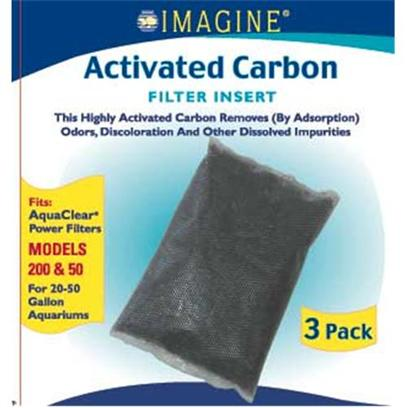 Imagine Gold Presents Imagine Gold Aquaclear 50 (300) Active Carbon Fits Models 200. This Highly Activated Carbon Removes (by Adsorption) Odors, Discoloration and Other Dissolved Impurities Fits Aquaclear Power Filters Models 200 &amp; 50, for 20-50 Gallon Aquariums [28575]