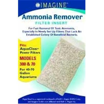 Imagine Gold Presents Imagine Gold Aquaclear 70(300) Ammonia Remover Fits Models 300 &amp; 70. For Fast Removal of Toxic Ammonia,Especially in Newly Set Up Filters that Lack an Established Colony of Beneficial Bacteria Fitsaquaclear(R) Power Filters Models 300 &amp; 70, for 40-70 Gallon Aquariums [28582]
