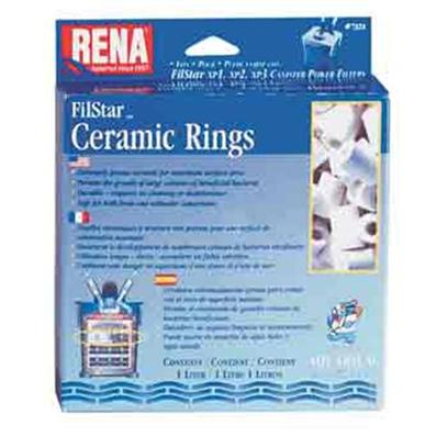 Aquarium Pharmaceuticals Presents Aquarium Pharmaceuticals (Ap) Rena Filstar Ceramic Rings 1 Liter. Canister Filter Media Designed to Fit the Filstar Xp. Super High Porosity Rings have Greater Surface Area than Conventional Ceramics. 1 Liter [28692]