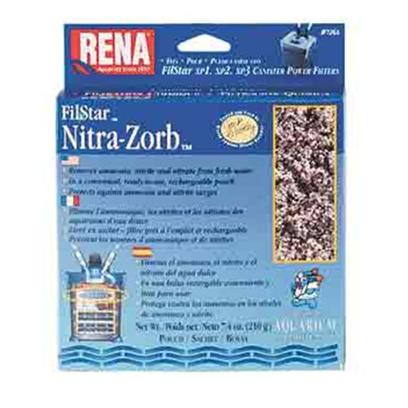 Aquarium Pharmaceuticals Presents Aquarium Pharmaceuticals (Ap) Rena Filstar Nitra Zorb 210gm 1-Count. Canister Filter Media Designed to Fit the Filstar Xp. For Complete Removal of Ammonia, Nitrite and Nitrate from Freshwater. Rechargeable Pouch. 210 G Pouch [28693]