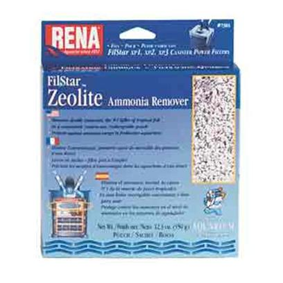 Aquarium Pharmaceuticals Presents Aquarium Pharmaceuticals (Ap) Rena Filstar Zeolite 350gm 1-Count. Canister Filter Media Designed to Fit the Filstar Xp. 100% Natural Zeolite. Removes Ammonia from Freshwater. Rechargeable Pouch. 350 G Pouch [28696]