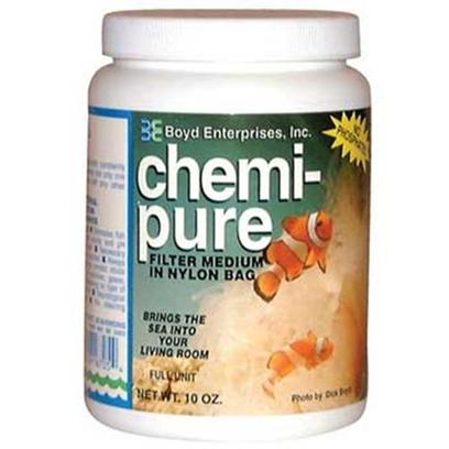 Boyd Enterprises Presents Boyd Chemi Pure Chemi-Pure Grande 40oz. Chemi-Pure Aquarium Filter Media Removes Ammonia and Other Harmful Waste Products and Toxins from Aquarium Water, Regulates Ph and Contains no Phosphates. Chemi-Pure is a Safe, Effective Filter Media for Creating Crystal Clear Aquarium Water, Reduces Water Changes, Makes Fish Healthier, and Allows Corals and Invertebrates to Acclimate More Quickly and Thrive in their Aquarium Environment. Chemi-Pure has no Effect on Beneficial Biological Organisms and can Remove Copper from Medication Dosage. Ideal for Freshwater or Saltwater Aquariums, Chemi-Pure is the Perfect Replacement for any Aquarium Filter Using Bags of Carbon Media. Take your Aquarium Filtration to the Next Level with Chemi-Pure! The Safest Most Effective Filter Medium Freshwater Tanks Require Almost no Cleaning Negative Ion Control Removes Ammonia and Other Nitrogeous Waste [28700]
