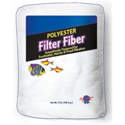 Blue Ribbon Presents Blue Ribbon (Br) Polyester Floss 7oz Bag. Soft Polyester Filter Fiber in Convenient 7 Oz. Pillow-Pack - Ideal for Freshwater, Marine and Pond Applications [28703]