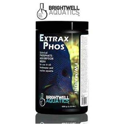 Brightwell Aquatics Presents Brightwell Aquatics (Bwell) Extrax Phosphate Phos Adsorption Media 50lbs 22.7kg.  Advanced Adsorbent of Phosphate and Silicate; Provides Rapid Results.  may be Used on an on-Going Basis as Part of a Sensible Nutrient-Control Program.  Spherical Shape and Porosity Maximize Reactive Surface Area; Promotes Reactivity and Efficiency by Maximizing Contact Time and Minimizing Tendency to Pack and Channel Water, and Outperforms Competing Non-Spherical Phosphate-Adsorbent Media.  Recommended Usage is 2 G of Extrax Phos Per 1 us-Gallon (3.8 L) in Aquarium; 600 Grams will Adsorb Up to 20 Mg/L Phosphate in 300 us-Gallons (1,136 L).  does not Release Phosphate, Silicate, or Soluble Compounds into Aquarium System when Exhausted.  Safe for Use in all Freshwater and Marine Aquaria, Including Freshwater Planted Systems and Reef Systems. Solid 3.2-Kg [28712]