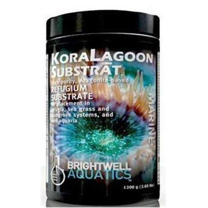 Brightwell Aquatics Presents Brightwell Aquatics (Bwell) Koralagoon Substrat Refugium 3.1lb 1.4kg.  a Blend of High-Purity Aragonite Particulate Grades to Simulate the Natural Substrate Particle Profile of Tropical Reef Lagoons.  Multiple Particulate Grades Encourage Biochemical Reactions (E.G. Nitrification and Denitrification) Within the Sediment to Facilitate Continuous Release of Constituent Ions (Calcium, Carbonate, Strontium, Magnesium, Potassium, and Sixty Minor and Trace Elements), Encouraging the Growth of Reef-Building Organisms and Helping Stabilize Ph.  over 39% Calcium and 57% Carbonate by Dry Weight.  Applications Include Refugia, Sea Grass and Macroalgae Bed Syste Filtration Employing Substrate to Facilitate Natural Redu of Organic and Nitrogenous Waste, and Reef Aquaria of all Sizes (Notably Nano-Reef Systems).  Formulated by a Marine Scientist. Granular 1.4kg [28716]