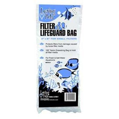 Loving Pets Presents Lv Drawstring Bag 3'x8' Filter Lifeguard 12pc. The Filter Lifeguard Bag Help Protect your Filter from any Loose Filter Media, the 100% Nylon Drawstring Bag Helps Catch the Loose Filter Medium for Easy Changing. [28807]