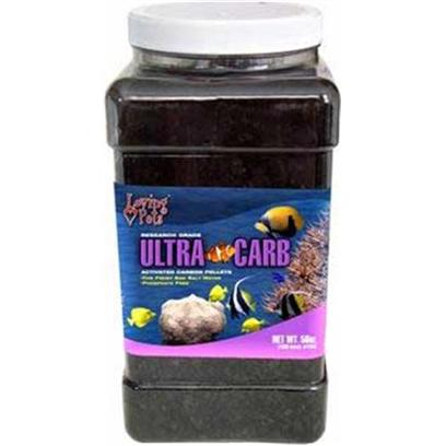 Loving Pets Presents Lv Ultra-Carb Pellets 8.4oz ( 1 Pint). For Fresh and Salt Water Aquariums. Because of its Greater Absorption Capacity, Ultra Carb is Effective Many Times Longer than Other Carbons.The Most Effective Medium to Clear Aquariums of Toxic Organic Substances, Discoloration and Foul Odor. Helps Keep Aquarium Water Clear. This Highly Activated Carbon is Many Times More Efficient than Other Carbons. Will Remove Toxic Organic Substances and Foul Odors from all Aquariums. Maximizes Efficiency of all Filters without Restricting Flow Rate. Ph of Aquarium Water will not be Affected. An Excellent Refill for all Filter Cartridges. [28814]