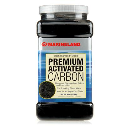 Marineland Presents Marineland (Ml) Black Diamond Carbon 8oz. Premium Activated Carbon Eliminates Discoloration, Odors, and Impurities...And Keeps on Doing it Long After Other Carbons Quit. Heat-Activated Bituminous Coal-Based Black Diamond Granules are Specially Sized and Far More Efficient than Inferior Coconut, Wood or Peat-Based Carbons. And Now, New and Improved Black Diamond Works Twice as Fast. 24 Per Case .438 Pounds [28822]
