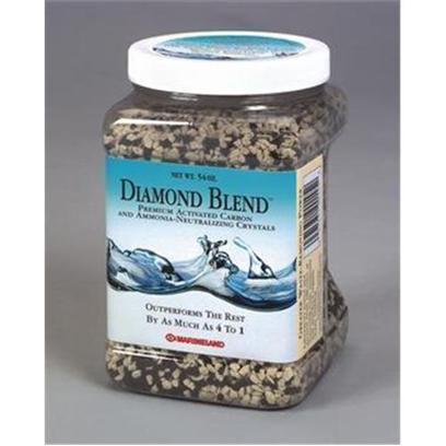 Marineland Presents Marineland (Ml) Diamond Blend Crystals 50oz. Premium Activated Carbon and Ammonia-Neutralizing Crystals is Ideal for New Aquariums. This Special Formulation of New Faster-Acting Black Diamond and Super-Effective White Diamond Cleans and Conditions Aquarium Water, Ridding it of Dissolved Organic Waste and Odors as it Removes Toxic Ammonia and Chloramines. Outperforms Other Blends by as Much as 4 to 1. 12 Per Case 3.43 [28827]