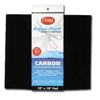 Hb.H. Enterprises Presents Hbh Carbon Pad 10' X 18' Deluxe Cut-to-Fit Filter 10. Impregnated with Small Carbon Bits. The Large Surface Area of the Pad Traps and Removes Water Discoloration, Odor, Residual Medications, Toxins, Pollutants, and Dissolved Fish Waste. 10&quot;X18&quot; [29003]