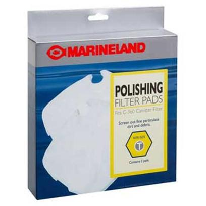 Marineland Presents Marineland (Ml) Polish Ftr Pad C360 2pk 2 Pack. Marineland Polish Ftr Pad C360 2pk Filter Pads Screen out Dirt and Debris. [29028]