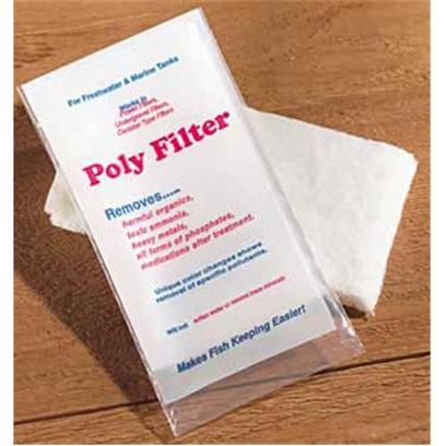 Poly Bio Marine Presents Polybio Poly Filter Pad 4 X 8'. Highly Adsorbent Chemical Filter Media Pads Quickly and Efficiently Remove Impurities, Medications, and Phosphate from Aquarium Water. Use in Conventional Power Filters, Undergravel Filters, the Chemical Filtration Compartment of Canister Filters and Wet/Dry Filters. Simply Cut to any Size or Shape to Custom Fit any Aquarium Filter. Rapidly Improves Water Clarity and Actively Removes Harmful Organic and Various Inorganic Waste Buildup for Several Months. Changes Color to Indicate the Pollutants Being Removed and when Poly-Filter (R)is Exhausted. Will not Leach Pollutants Upon Saturation. Used by Researchers, Hospitals, Etc. For Use in Freshwater or Marine Aquariums. Pad Size - 4&quot; X 8&quot; [29039]