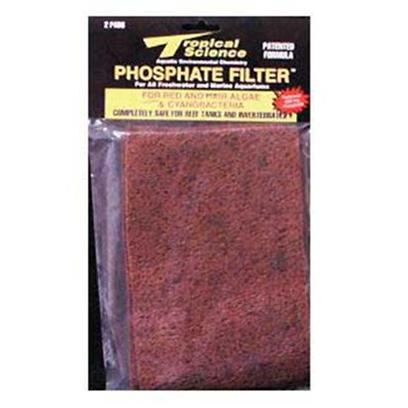 "Tropical Science Labs Presents Tr Sci Phosphate Filter & Algae 6'x 9' Pad 6x9' 2pk with Inhibitor. Our World-Famous. Patented Phosphate Eliminators! Alumina-Free, Non-Toxic ""Phosphate Magnets"" Remove only Soluble and Insoluble Phosphates - not Expensive Essential Trace Elements! Pf - 100 Includes Red and Hair Algae Additive for Fast Elimination of Unsightly Debris. Ph - 200 is for General Phosphate Level Maintenance. Both are 100% Safe for Application in Marine and Reef Systems. [29066]"