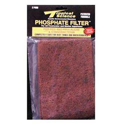 Tropical Science Labs Presents Tr Sci Phosphate Filter 6x9 Pad 2pk. Our World-Famous. Patented Phosphate Eliminators! Alumina-Free, Non-Toxic &quot;Phosphate Magnets&quot; Remove only Soluble and Insoluble Phosphates - not Expensive Essential Trace Elements! Pf - 100 Includes Red and Hair Algae Additive for Fast Elimination of Unsightly Debris. Ph - 200 is for General Phosphate Level Maintenance. Both are 100% Safe for Application in Marine and Reef Systems. [29067]