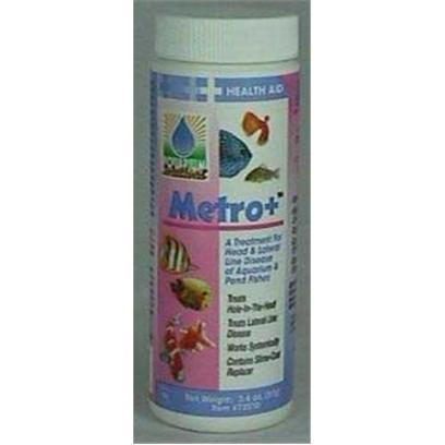 Hikari Usa Presents Hikari Metro+ 3.4oz. Metro+ is a Powdered Formula that was Developed to Offer the Hobbyist an Effective Way to Treat Lateral Line and Hole-in-the-Head Diseases Suffered by their Pond, Freshwater or Marine Fishes. This Revolutionary, Extremely Safe and Super Effective Product Offers you Benefits no Other Similar Medication Can! [29148]
