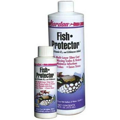 Kordon/Oasis Presents Kord Fish Protector with Echinacea (Formally Polyaqua) 16oz. FishProtectorwith Polymer Colloids, Heavy Metals Detoxifier, Vitamin B12 and Echinacea. Formulated for Use in Both Fresh and Salt Water. FishProtector is a Professional Quality Water Treatment that Calms Fishes, Reduces Losses, Eases Stress, Minimizes Infection and Aids Healing - Thereby Helping to Protect Fishes During Handling, Illness and Transportation. FishProtector Detoxifies the Free Ions of the Heavy Metals Present in Public Water Supplies,Such as Zinc, Iron, Lead, Copper, and Arsenic, which can be Lethal to Fishes and Invertebrates. FishProtector Forms a Multi-Layered Protective Slime Coating on Fishes' Skin, Protecting Fishes During Handling and Minimizing Infection. The Coating Works as an Effective Healing Aid for Fishes with Bruises, Missing Scales, or Frayed Fins. The Protective Slime Coating is Formed by Special Polymer Colloids, and does not Involve Irritating the FishS Surface by the Use of Salt. FishProtector's Polymer Colloids Beneficially Absorb Medicinal Dyes, E.G., Methylene Blue and Malachite Green, as Well as Antibiotics, E.G., Oxytetracycline and Itrofurazone FishProtector Acts as a Carrier for Such Medications and can be Used as an Aid in Applying them to the FishS Skin. FishProtector Combines Skin Slime Replacers, that are More Concentrated and Faster Working than that Used in KordonS Novaqua Plus, with the Addition of Vitamin B12 and Increased Echinacea, all of which Aids in the Normal Healing Process of Injured Fishes. [29172]