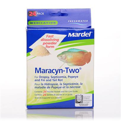 Virbac Presents Mardel Fw Maracyn-2 Powder 24 Packets. Mardel Labs Maracyn Ii Powder Medication Treats Freshwater Fish in Curing the Following Dropsy, Popeye, Fin Rot, Tail Rot, Septicemia. Mardel Labs Maracyn Ii Powder Medication Aids in Curing Fish Against Many of the Most Common Freshwater Diseases. [29195]