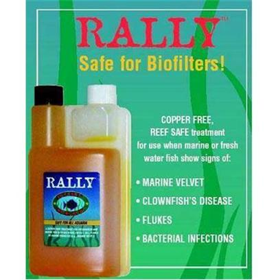 Ruby Reef Presents Ruby Reef Rally 1liter (Treats 180gal). Represents a Formulation that is a Practical One-Time Water Treatment which is Safe for the Salt Water Fish, Corals and Invertebrates in all Freshwater and Marine Aquaria. It Uses Highly Purified Water as the Sole Solvent and Carrier for the Active Ingredients (the Chemical Names are on the Label), while also Providing the Attributes of Long Shelf Life and Manageable Dosage Regimens. [29216]
