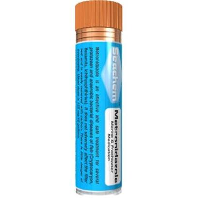Seachem Laboratories Presents Seachem Metronidazole 5gm 5 Gram. Metronidazole™ is an Effective and Safe Treatment for Several Protozoan and Anaerobic Bacterial Diseases of Fish ( Cryptocaryon, Hexamita, Ichthyophthirius ). It does not Adversely Affect the Filter Bed and is Easily Removed with Carbon. There is Little Danger of Overdosing. Usual Dose is 125 Mg/10 Gallons. [29229]