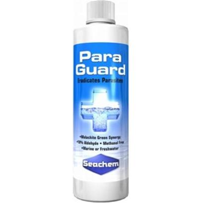 Seachem Laboratories Presents Seachem Paraguard 2 Liter. Paraguard is the only Fish and Filter Safe Aldehyde Based (10% by Weight) Parasite Control Product Available. Unlike Highly Toxic and Difficult to Use Formalin Based Medications, Paraguard Contains no Formaldehyde or Methanol and will not Alter Ph. Paraguard Employs a Proprietary, Synergistic Blend of Aldehydes, Malachite Green, and Fish Protective Polymers that Effectively and Efficiently Eradicates Many Ectoparasites on Fish (E.G. Ich, Etc.) and External Fungal/Bacterial/Viral Lesions (E.G., Fin Rot). It is Particularly Useful in Hospital and Receiving Tanks for New Fish and Whenever New Fish are Introduced to a Community Tank. For Use in Freshwater or Marine. [29233]