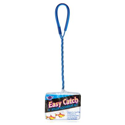 Blue Ribbon Presents Blue Ribbon (Br) Easy Catch 4' Net. 100% Nylon Fine Mesh Fish Net is Ideal for all Aquarium Applications. Deep Net Pocket. [29291]