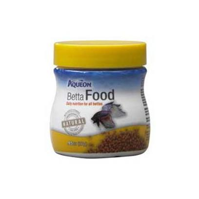 Aqueon Presents Aqen Betta Food .95oz. Aqueon Foods Contain only Natural Ingredients and Contain no Artificial Colors. The Colors of the Foods are Attributed to the Actual Ingredients in the Formula, and Help to Bring out the Natural Colors in your Fish, while Keeping them Energetic and Healthy. Guaranteed Analysis Crude Protein (Min).....38% Crude Fat (Min) ..............7% Crude Fiber (Max)...........7% Moisture (Max).................8% Phosphorus (Min)...........1% [29313]