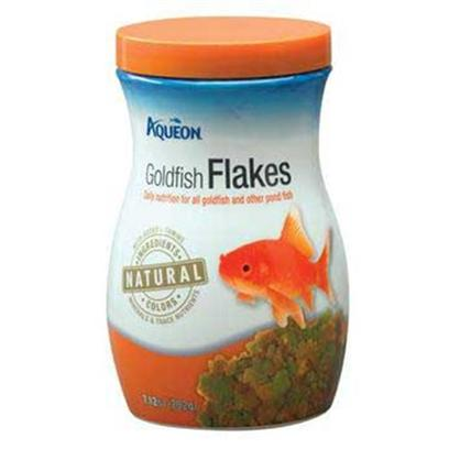Aqueon Presents Aqen Goldfish Flake 7.12oz. Aqueon Foods Contain only Natural Ingredients and Contain no Artificial Colors. The Colors of the Foods are Attributed to the Actual Ingredients in the Formula, and Help to Bring out the Natural Colors in your Fish, while Keeping them Energetic and Healthy. Guaranteed Analysis Crude Protein (Min).....38% Crude Fat (Min) ..............5% Crude Fiber (Max)...........5% Moisture (Max).................8% Phosphorus (Min)...........1% [29314]