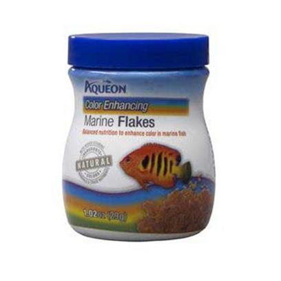 Aqueon Presents Aqen Marine Color Flake 1.02oz. Aqueon Foods Contain only Natural Ingredients and Contain no Artificial Colors. The Colors of the Foods are Attributed to the Actual Ingredients in the Formula, and Help to Bring out the Natural Colors in your Fish, while Keeping them Energetic and Healthy. Guaranteed Analysis Crude Protein (Min).....45% Crude Fat (Min) ..............8% Crude Fiber (Max)...........3% Moisture (Max).................8% Phosphorus (Min)...........1% [29319]