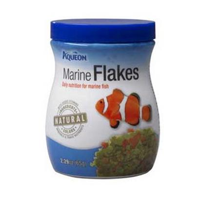 Aqueon Presents Aqen Marine Flake 1.02oz. Aqueon Foods Contain only Natural Ingredients and Contain no Artificial Colors. The Colors of the Foods are Attributed to the Actual Ingredients in the Formula, and Help to Bring out the Natural Colors in your Fish, while Keeping them Energetic and Healthy. Guaranteed Analysis Crude Protein (Min).....45% Crude Fat (Min) ..............8% Crude Fiber (Max)...........3% Moisture (Max).................8% Phosphorus (Min)...........1% [29321]
