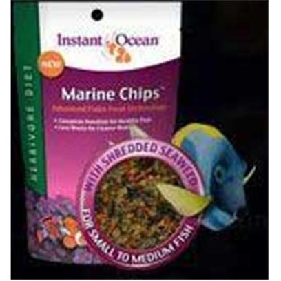 Instant Ocean-Aquarium Systems Presents Instant Ocean-Aquarium Systems (Io) Marine Chips Herbivore 80 Grams. Instant Ocean Herbivore Chips will Provide Optimal Results with Algae-Grazing Fish Like Tangs and Rabbitfish. Can also be Used to Supplement Dietary Needs of Many Species of Angels and Damsels. Added Natural Dried Shredded Seaweed (Porphyra Sp.) Higher Algae and Vegetable Content to Support Delicate Digestion [29355]