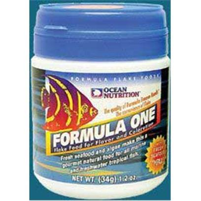 Ocean Nutrition Presents Onutr Discus Form 1 Flakes 1.2oz. Freshwater and Marine. A Gourmet Natural Food for all Marine Tropicals, this Food will Significantly Improve Coloration and Vitality in your Fish while Boosting the Immune System. Key Ingredients Include Salmon, Pacific Plankton, Squid, Krill, Clams, Kelp, Herring, Brine Shrimp, Minerals, Vitamins and Carotenoid Pigments. [29378]