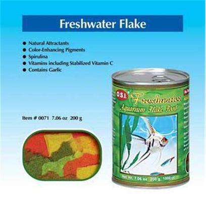 Ocean Star International Presents O.S.I. Freshwater Flake Food 7.06oz. Balanced Nutrition for a Variety of Fish does your Freshwater Tank have a Number of Fish Species? Then Give Ocean Star International'S Freshwater Flakes a Try. Balanced with Both Plant and Animal Proteins, these Flakes Provide a Broad Spectrum of Nutrients Essential to a Diverse Community of Fish. The Formula is Enriched with Vitamins as Well as Spirulina, a Highly Digestible Blue-Green Algae that Intensifies Coloration. Give your Fish the Diet that will Leave them Well-Fed, Healthy, and Vibrant to Boot. [29406]