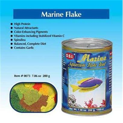 Ocean Star International Presents Ocean Star International (Osi) Flake Marine 2.24oz. O.S.I. Marine Flake Food is a Basic Diet Formulated to Include High Levels of Plant and Animal Oils to Provide Needed Highly-Unsaturated Fatty Acids. A Wide Variety of Plant and Animal Protein Sources Stimulate Good Growth. Natural Color-Enhancing Pigments, Spirulina and all Vitamins Necessary for Good Health are Included. [29418]