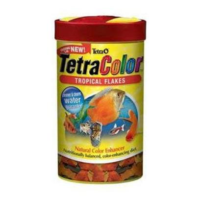 Tetra Usa Presents Tetra Color Flakes Tetracolor 2.82oz-Large. This Color Enhancer is a Wonderful Supplement to the Diet of any Tropical Fish. Tetracolor Flakes Promote Beautiful Color in all Tropical Fish, and can be Fed Daily, Alternating with Spirulina Foods and Treats. Vitamin C Enriched. [29443]