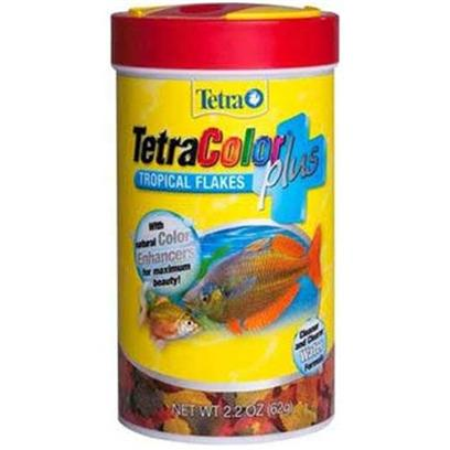 Tetra Usa Presents Tetra Color Plus Tropical Tetracolor Fish Food 85ml. New Flake Foods Covering the Core Categories (Tropical, Tropical Color, and Goldfish). These Foods Offer all of the Advantage of Tetra's Newest 'Cleaner & Clearer' Flake Formulations Plus an Added Benefit. Tetracolor Plus Contains Additional Color Enhanced Flakes for Maximum Beauty also Available Tetramin Plus & Tetrafin Plus [29447]