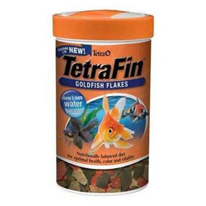 Tetra Usa Presents Tetra Fin Goldfish Flake Tetrafin Food 3.53oz. Ideal for Both Aquariums and Small Ponds. Tetrafin Goldfish Flakes Feature a New Formula that Promotes Longer Life and Better Health for Goldfish. This Special Formula Meets all Nutritional Requirements of Cold-Water Fish and will Stay Firm when Fish Strike. Tetrafin Now Features Procare, a Health-Enhancing System that Contains Omega-3 Fatty Acids to Give Fish the 'Healthy Fat' Needed for Energy and Growth, Immune Boosting Ingredients, and a Biotin Supplement to Bolster Metabolism. In Addition, Tetrafin Offers Increased Levels of Vitamin C. [29455]