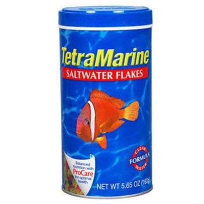 Tetra Usa Presents Tetra Marine Flakes 5.65oz-Large. Specifically Designed for Smaller Marine Fish, these Flakes are Ideal for Smaller Mid-Water Feeding Marine Fish, and a Better Value than Frozen Foods. Tetramarine Flakes are also Rich in Vitamins. [29464]
